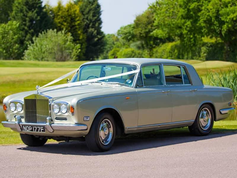 Gold Rolls Royce Wedding Car Hire