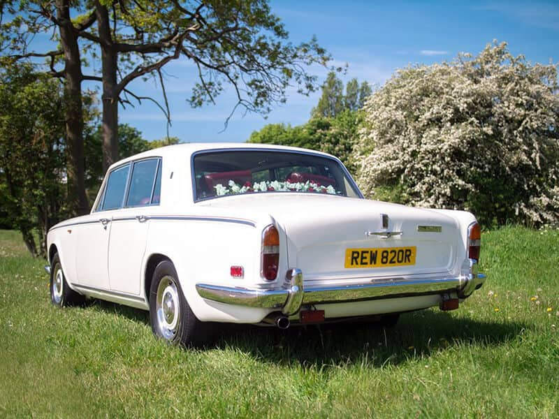 White Rolls Royce Wedding Car Hire Warwickshire